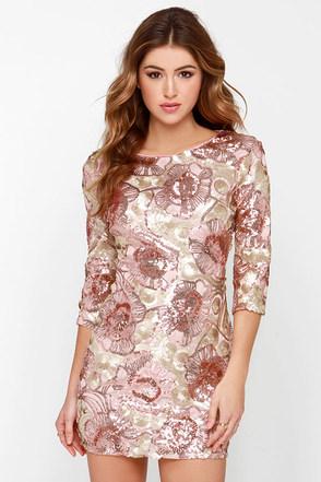 Glam Plan Pink Sequin Dress at Lulus.com!