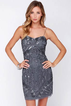 Raga Glitz and Pieces Grey Sequin Dress at Lulus.com!