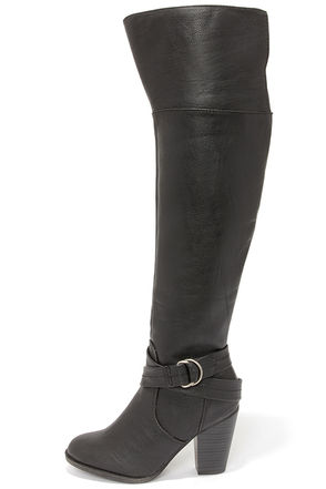 Bootsy Columns Brown Over the Knee Boots at Lulus.com!