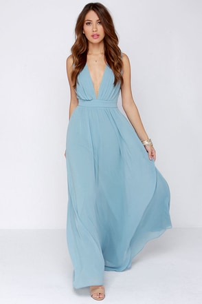 Tale of Wonder Light Blue Maxi Dress at Lulus.com!