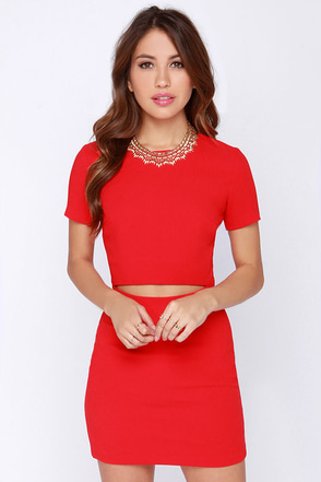 Vixen a Moment Red Dress at Lulus.com!