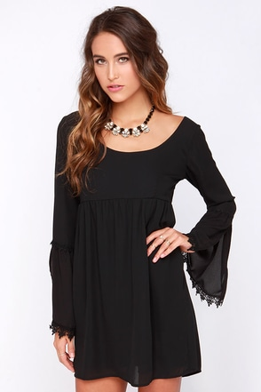 Lucy Love Emily Black Long Sleeve Dress at Lulus.com!