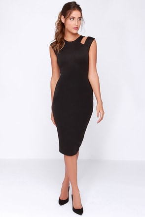 LULUS Exclusive More and Amore Black Midi Dress at Lulus.com!