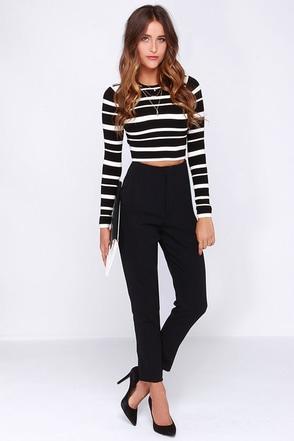 Let's Get Moving Black Pants at Lulus.com!