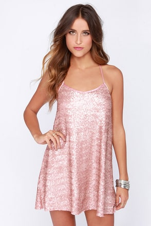 My Lucky Star Silver Sequin Dress at Lulus.com!