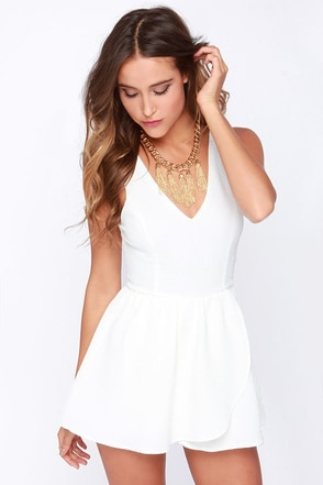 Start It Up Ivory Romper at Lulus.com!