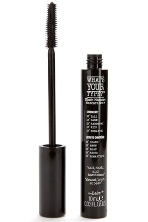 The Balm What's Your Type Tall, Dark, and Handsome Black Mascara at Lulus.com!