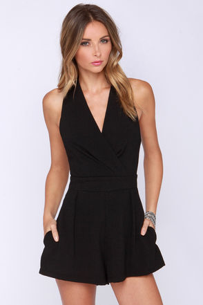 Show Must Go On Black Romper at Lulus.com!