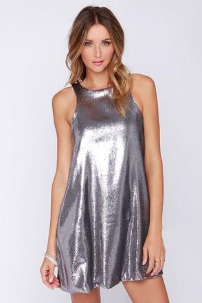 Glamorous Shining Amour Pewter Sequin Dress at Lulus.com!