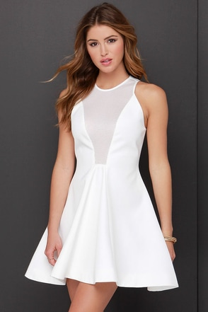 Cameo Another Day Ivory Mesh Dress at Lulus.com!