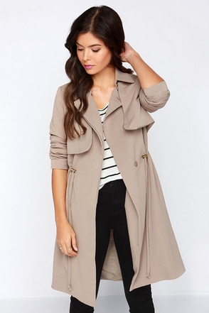 Far Away Coast Tan Coat at Lulus.com!