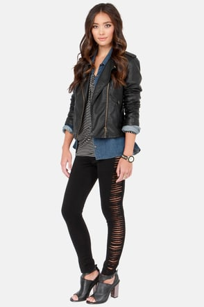 Rad Attitude Cutout Black Leggings