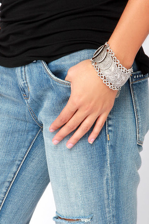 River Styx Silver Coin Bracelet at Lulus.com!