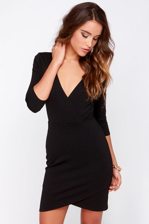 LULUS Exclusive Lean Into It Black Dress at Lulus.com!