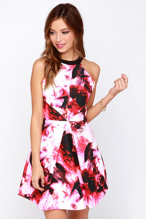 Keepsake Adore You Hot Pink Floral Print Dress at Lulus.com!