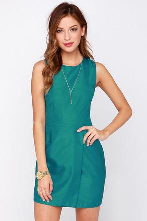 Keepsake Wildfire Teal Dress at Lulus.com!