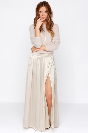 Billabong Waves for Dayz Champagne Maxi Skirt at Lulus.com!