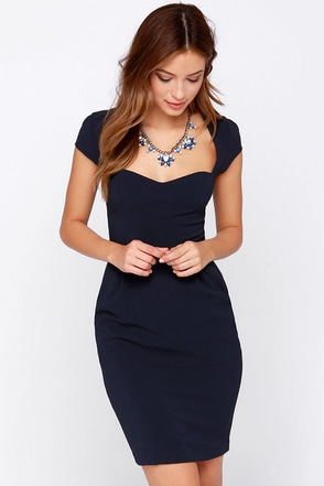LULUS Exclusive Share the Love Navy Blue Dress at Lulus.com!