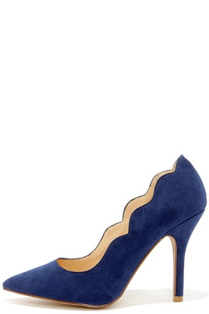 Chinese Laundry Savvy Bright Navy Suede Pointed Pumps at Lulus.com!