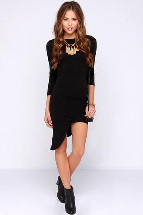 Crazy in Love Black Bodycon Dress at Lulus.com!