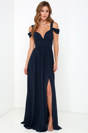 Bariano Ocean of Elegance Grey Maxi Dress at Lulus.com!