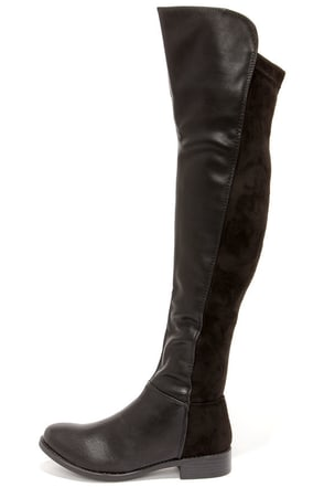 My Better Calf Black Over the Knee Boots at Lulus.com!
