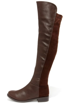 My Better Calf Brown Over the Knee Boots at Lulus.com!