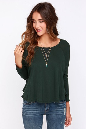 Obey Drifter Forest Green Long Sleeve Top at Lulus.com!