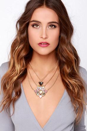 Pretty Pretty Princess Pink Rhinestone Necklace at Lulus.com!