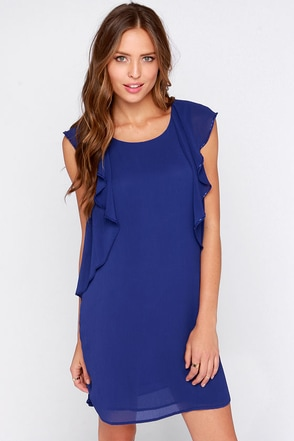 Shoot to Frill Royal Blue Dress at Lulus.com!