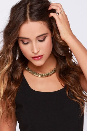 Lasso Into You Gold Necklace at Lulus.com!