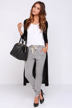 Project Social T Terry Me Grey Jogger Pants at Lulus.com!