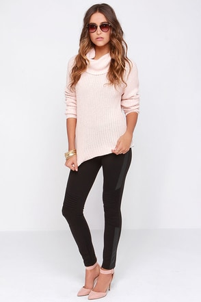 Stack the Deck Black Leggings at Lulus.com!