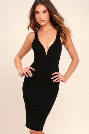 LULUS Exclusive Gracefully Yours Black Dress 1