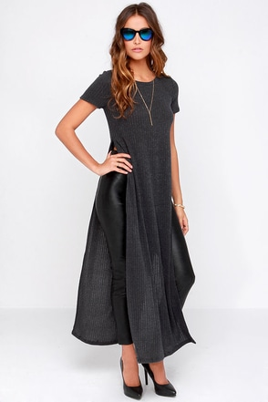 All That She Wants Grey Maxi Top at Lulus.com!
