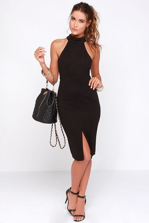 Outstanding Features Red Midi Dress at Lulus.com!