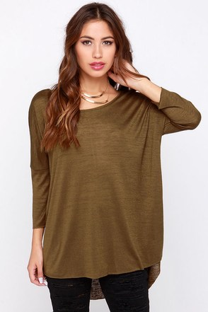 Fresh Take Olive Green Tunic Top at Lulus.com!