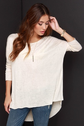 Fresh Take Grey Tunic Top at Lulus.com!