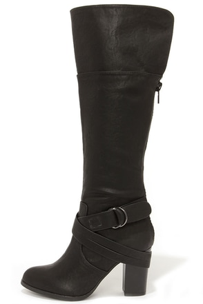 Lift Off Black Knee High Heel Boots at Lulus.com!