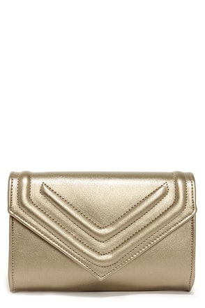 Leave a Message Gold Clutch at Lulus.com!