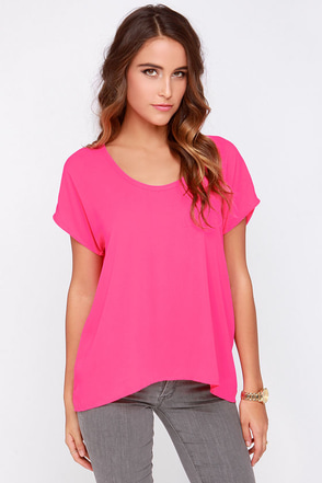 Jewel Be Mine Hot Pink Top at Lulus.com!