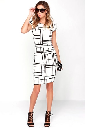 Long and Drawn Out Black Print Midi Dress at Lulus.com!