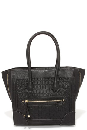 Croc Steady Black Tote at Lulus.com!
