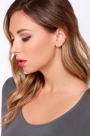 Hey, Hot Rod Gold Bar Earrings at Lulus.com!