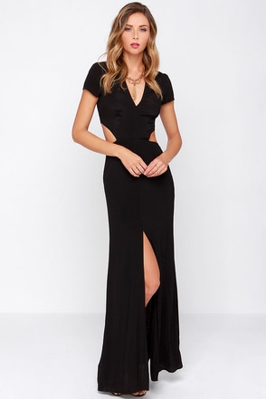 Lovers + Friends Harper Black Maxi Dress at Lulus.com!