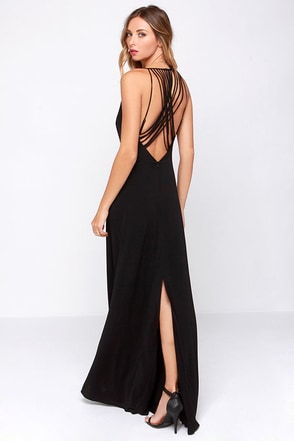 Strike a Chord Black Maxi Dress at Lulus.com!