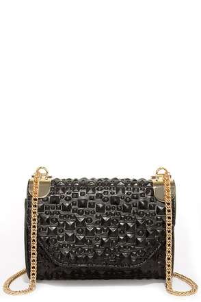 Stud-y Up Black Purse at Lulus.com!