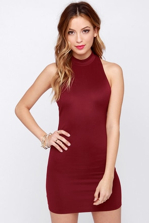 LULUS Exclusive To the Nines Burgundy Bodycon Dress at Lulus.com!