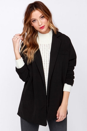 Sittin' Savvy Black Blazer at Lulus.com!