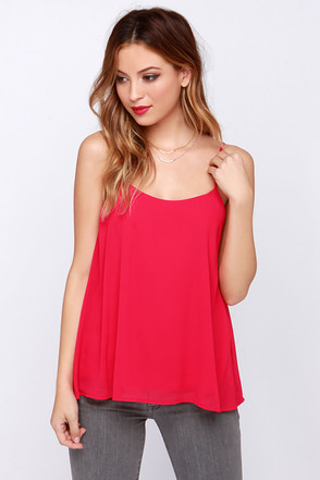 LULUS Exclusive Bel Air Baby Berry Pink Tank Top at Lulus.com!
